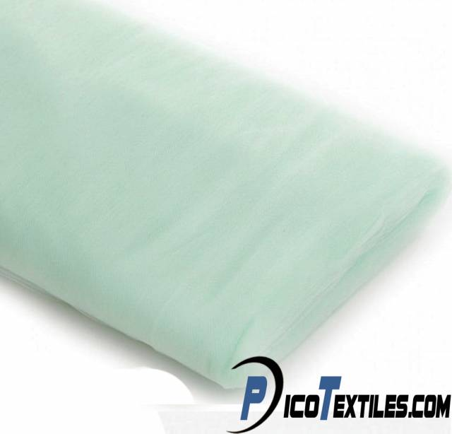 Mint Tulle Fabric by the Bolt