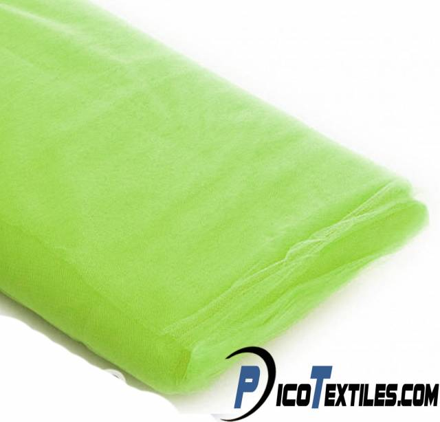 Lime Tulle Fabric by the Bolt