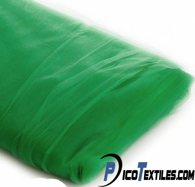 Kelly Green Tulle Fabric by the Bolt