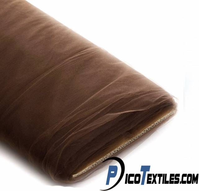 Brown Tulle Fabric by the Bolt