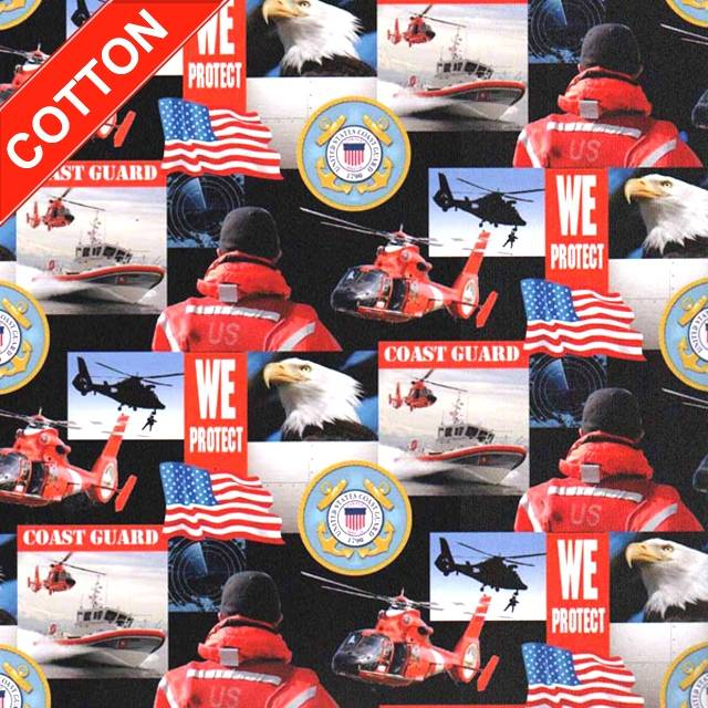 US Coast Guards Military Branches Cotton