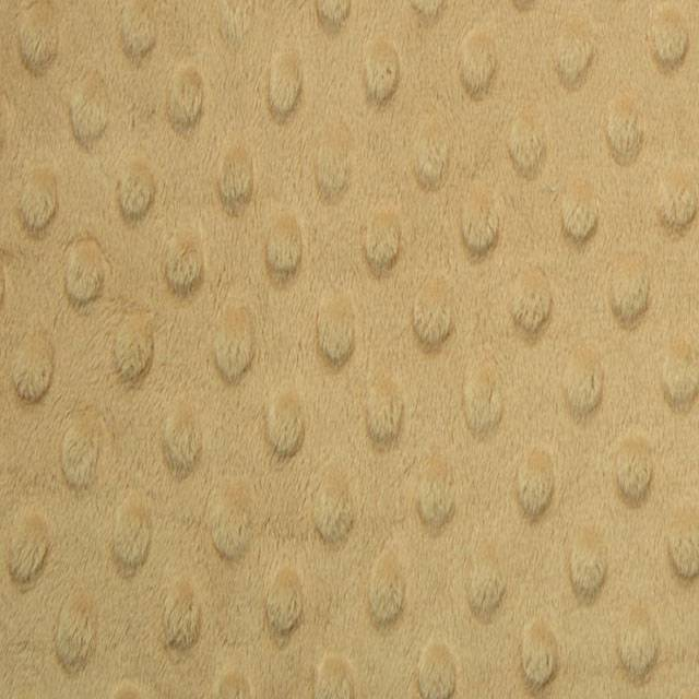 Camel Minky Cuddle Dimple Dot Fabric