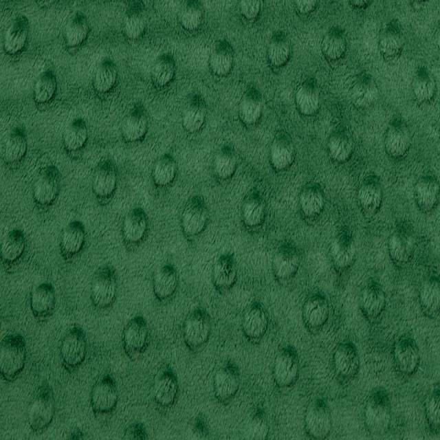 Emerald Minky Cuddle Dimple Dot Fabric