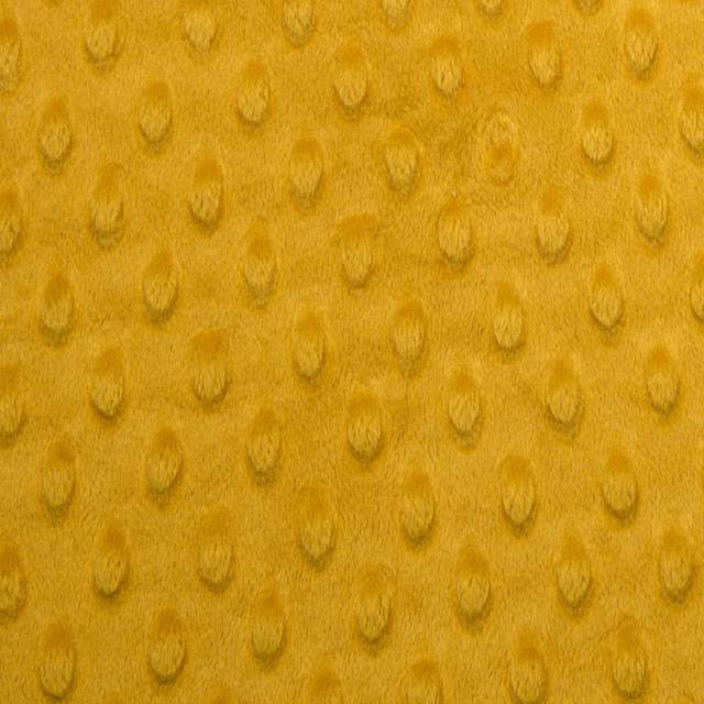 Gold Minky Cuddle Dimple Dot Fabric