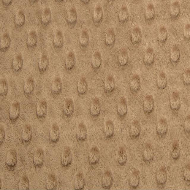 Taupe Minky Cuddle Dimple Dot Fabric