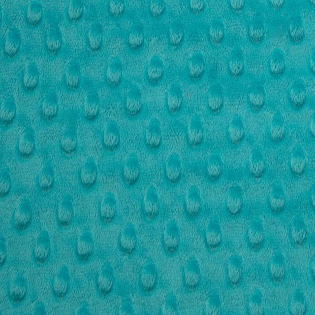 Teal Minky Cuddle Dimple Dot Fabric