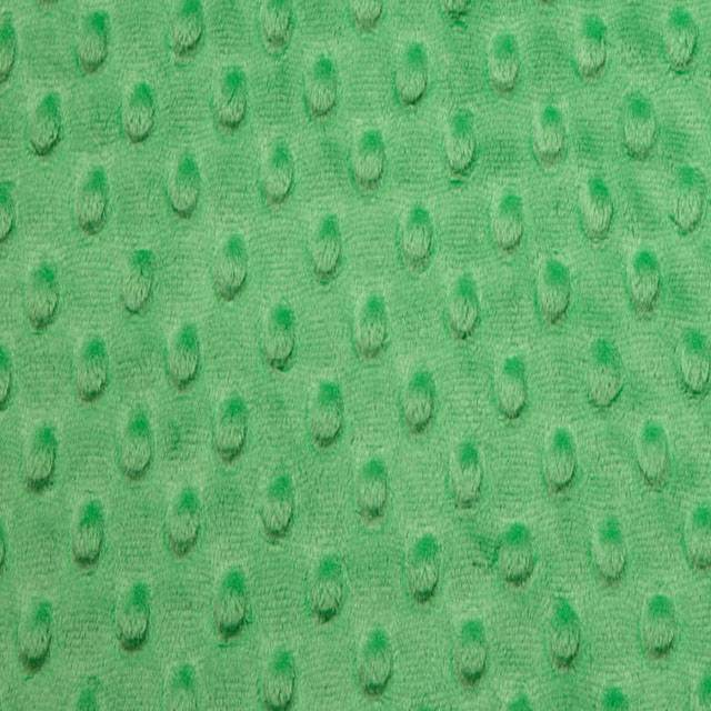 Kelly Green Minky Cuddle Dimple Dot Fabric