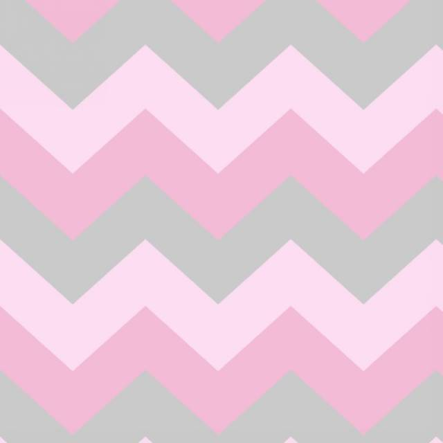 Baby Pink & Gray Chevron Fleece Fabric