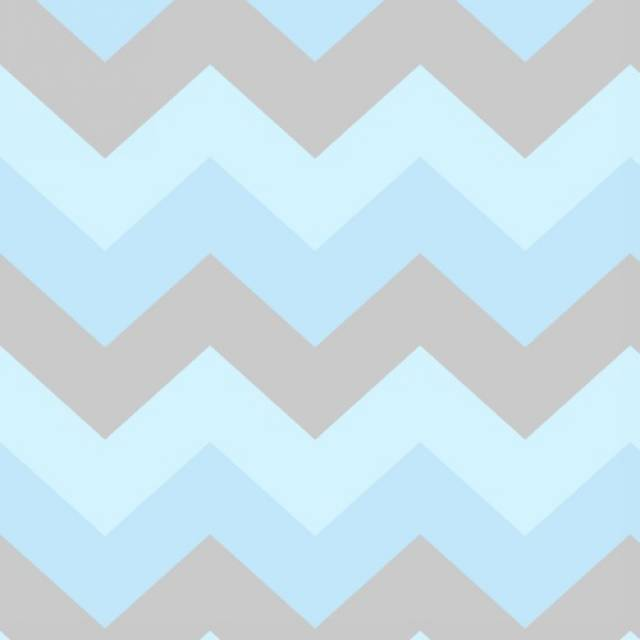 Baby Blue & Gray Chevron Fleece Fabric