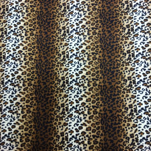 Leopard Skin Fleece Fabric