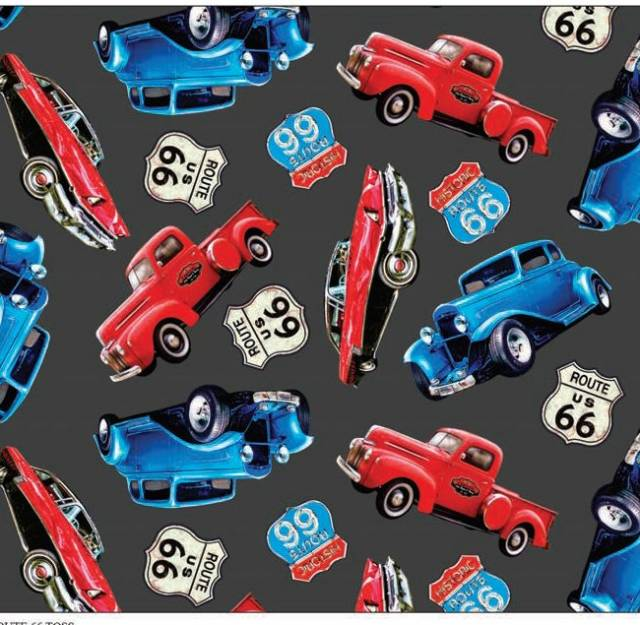 Route 66 Classic Cars Fleece
