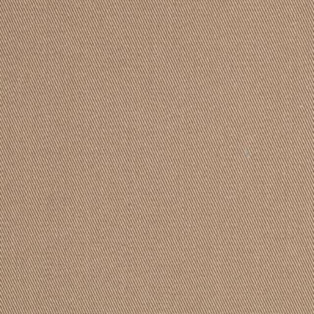 Camel Poly Cotton Twill Fabric