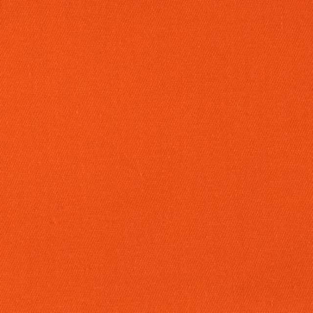 Orange Poly Cotton Twill Fabric
