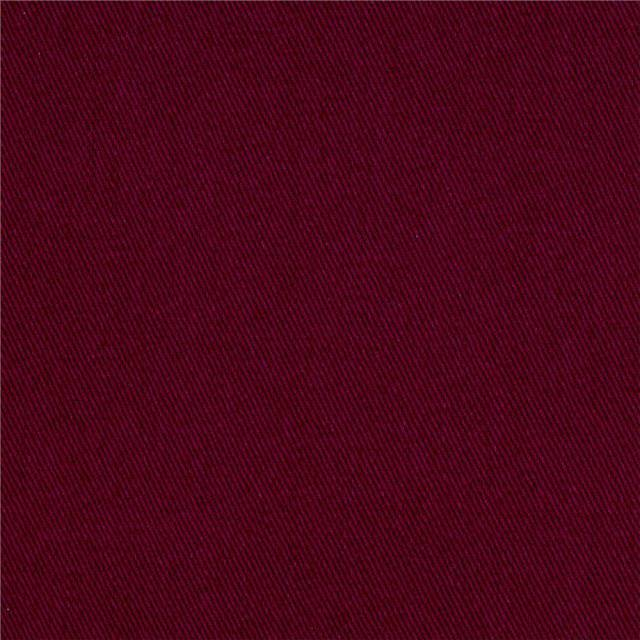 Burgundy Poly Cotton Twill Fabric