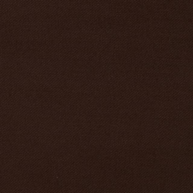 Brown Poly Cotton Twill Fabric