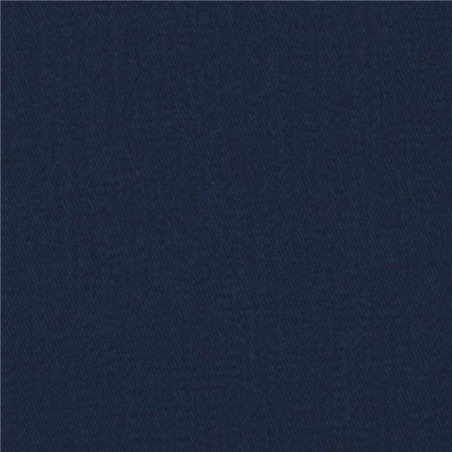 Navy Poly Cotton Twill Fabric