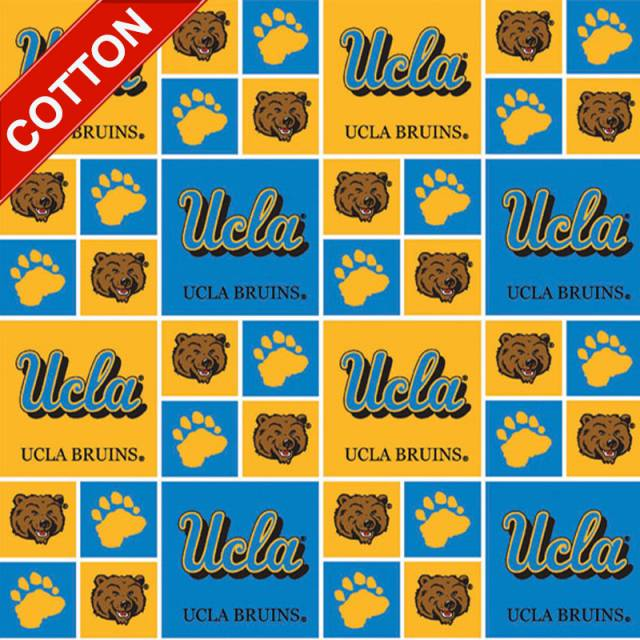 University of California Los Angeles Bruins Cotton Fabric