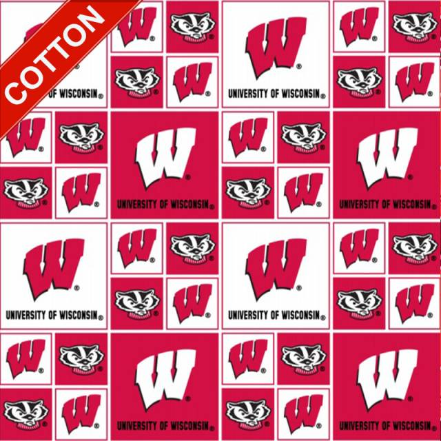 University of Wisconsin Badgers Cotton Fabric
