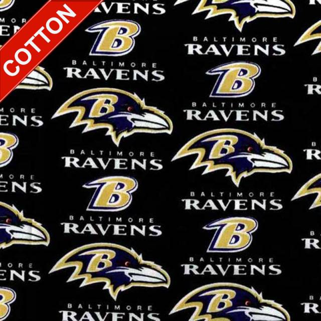 Baltimore Ravens Allover NFL Cotton Fabric