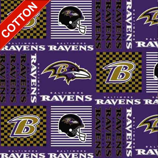 Baltimore Ravens NFL Cotton Fabric