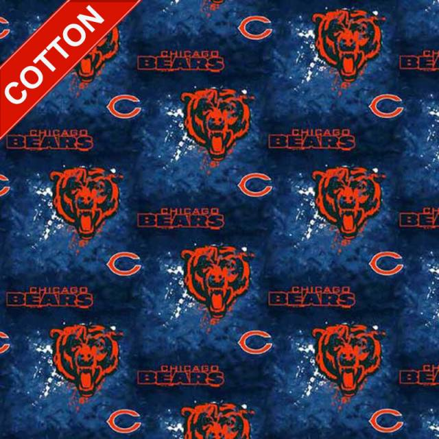 Chicago Bears Tie Dye NFL Cotton Fabric