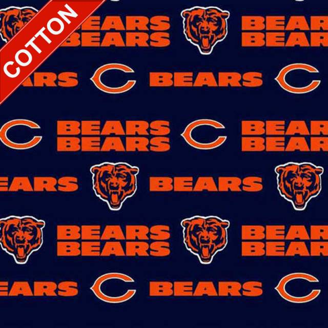 Chicago Bears Allover NFL Cotton Fabric