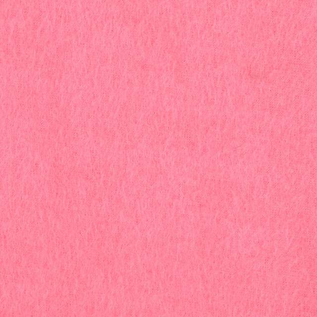 Bubble Gum Pink Solid Anti-Pill Fleece Fabric