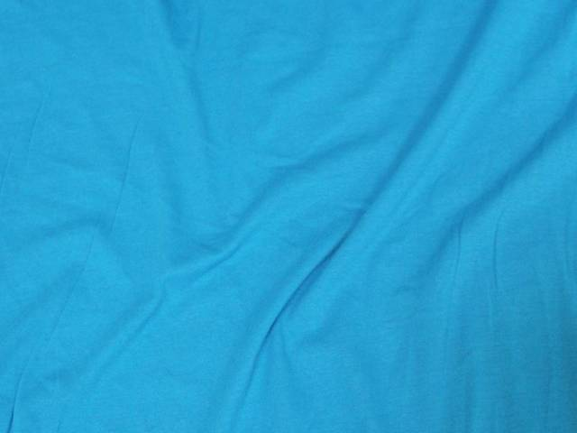 Turquoise Cotton Spandex Jersey Fabric