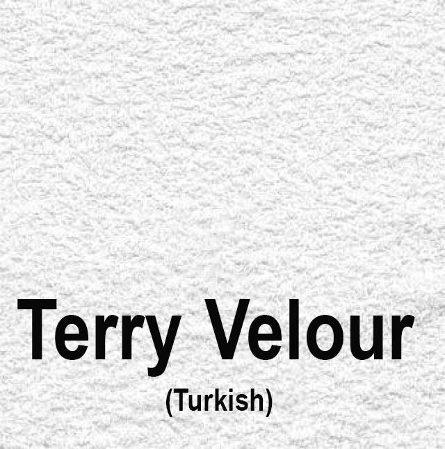 21oz Turkish Terry Velour White
