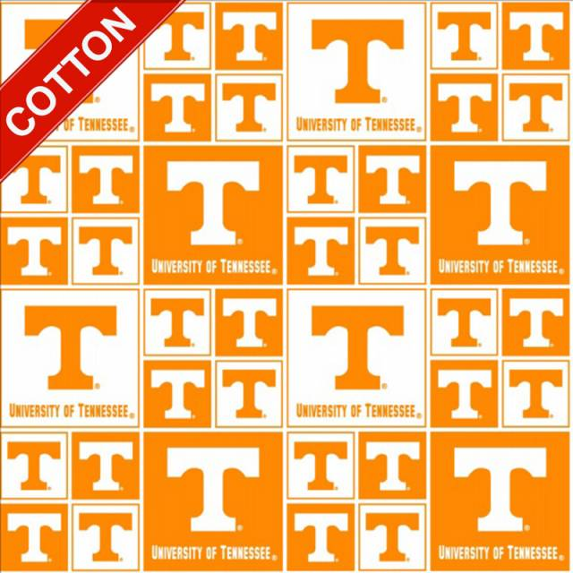 University of Tennessee Volts Cotton Fabric