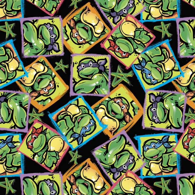 Nickelodeon Ninja Turtles Allover Fleece Fabric
