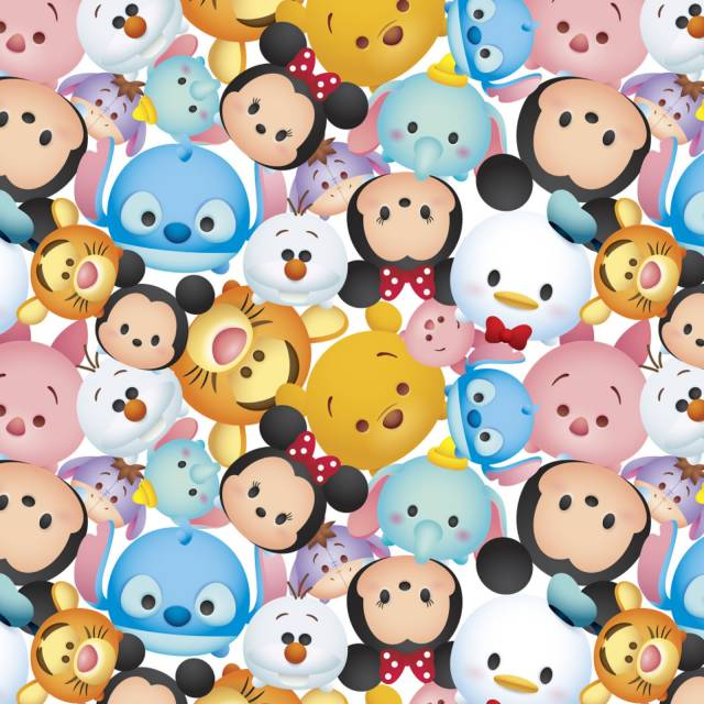 Disney Mickey and Friends Tsum Tsum Fleece Fabric