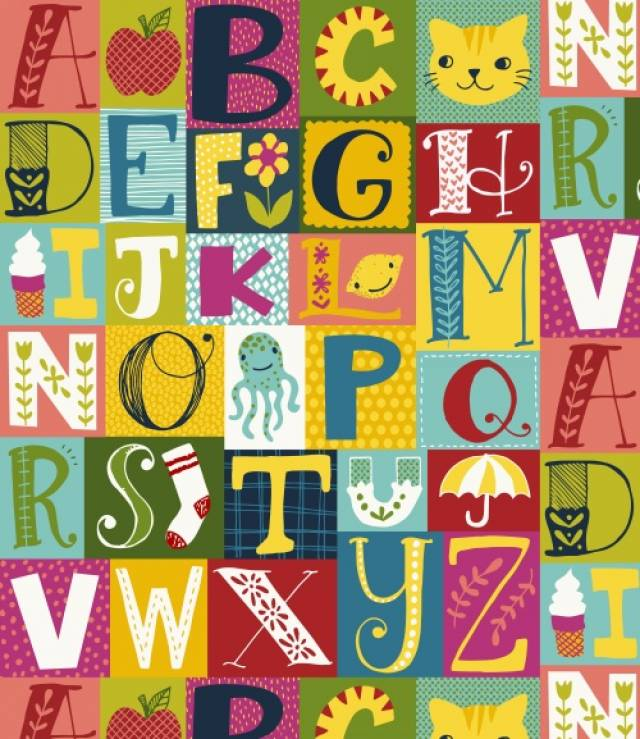 AlphaBets Blocks Fleece