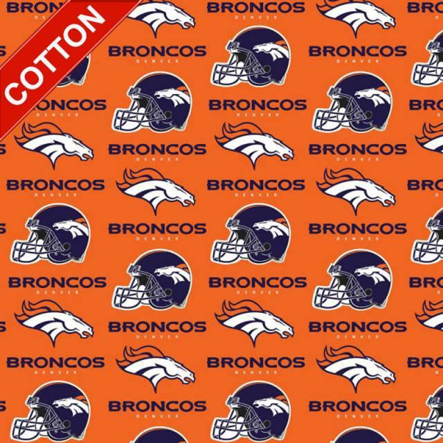 8891a3ba Denver Broncos Logo Cotton Fabric - NFL Football Team Cotton Fabric