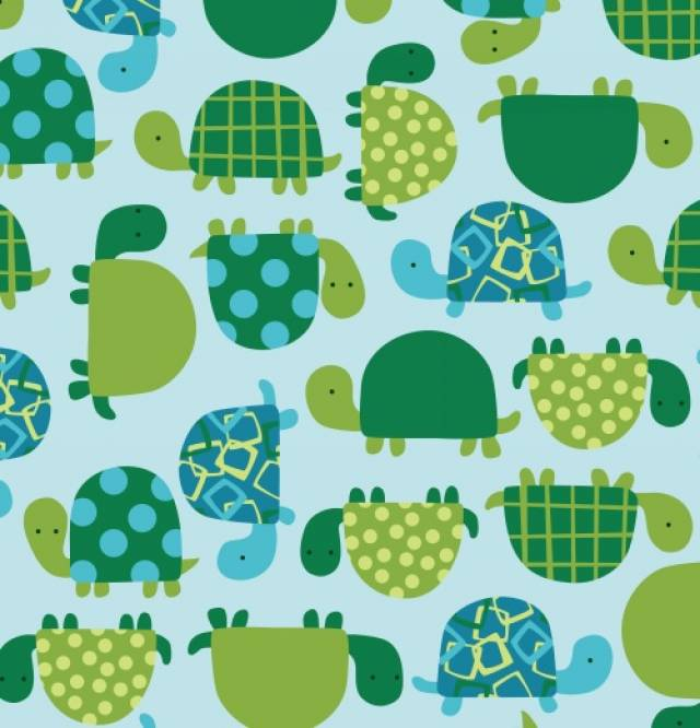 Happy Turtles Allover Fleece