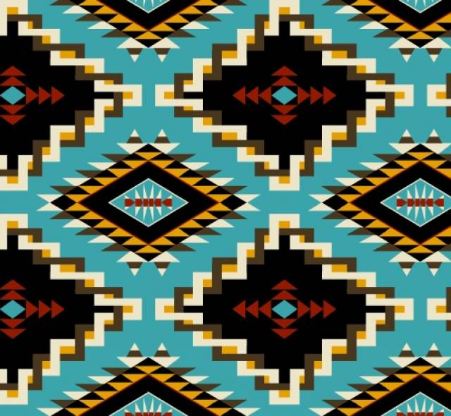 Spirit Link Turquoise Native American Fleece Fabric