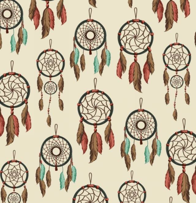 DreamCatcher Ivory Aztec Fleece Fabric