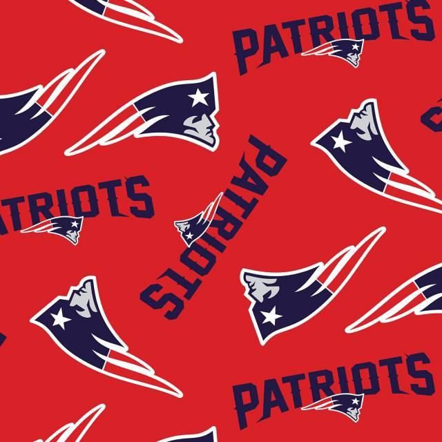 New England Patriots Logo Fleece Fabric Nfl Football Team Fleece