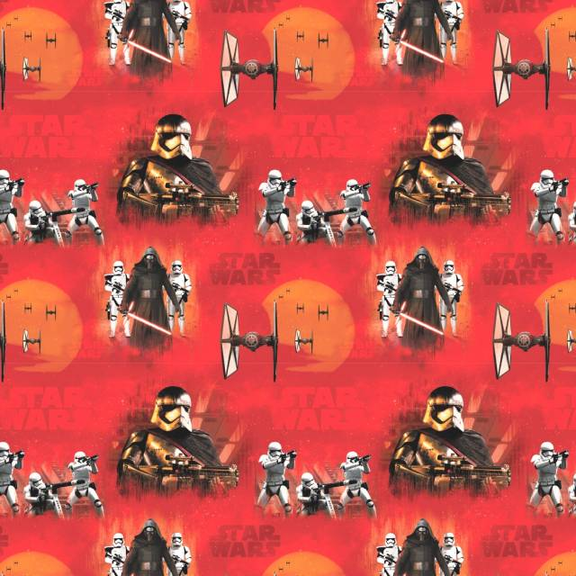Star Wars Force Awakens Red Fleece Fabric