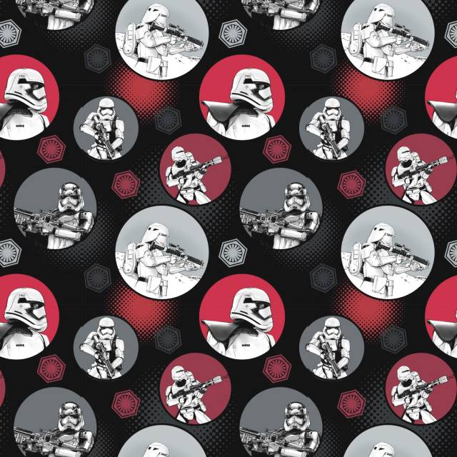 Star Wars The Force Awakens Black Fleece Fabric