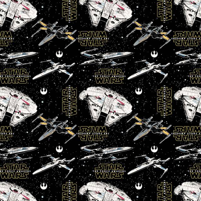 Star Wars The Force Awakens Millennium Falcon Fleece Fabric