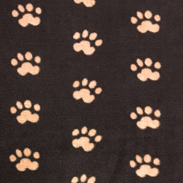 Brown Paws Allover Fleece