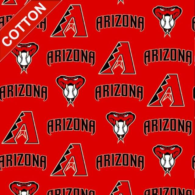 Arizona Diamondbacks MLB Cotton Fabric