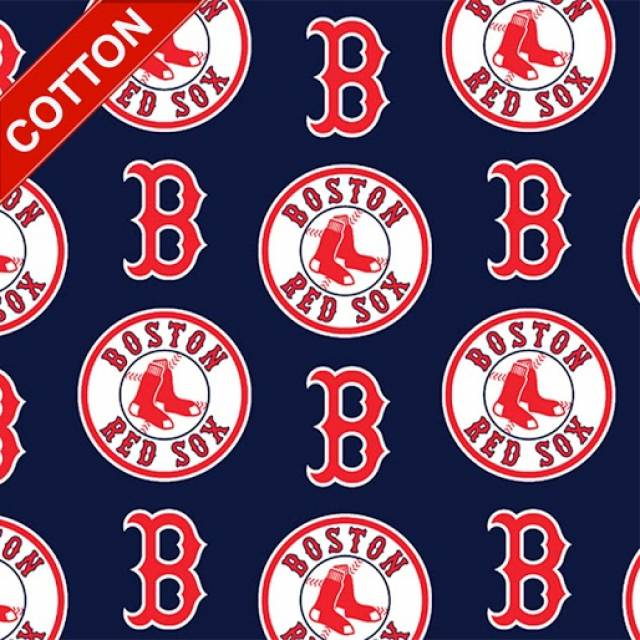 Boston Red Sox Navy MLB Cotton Fabric