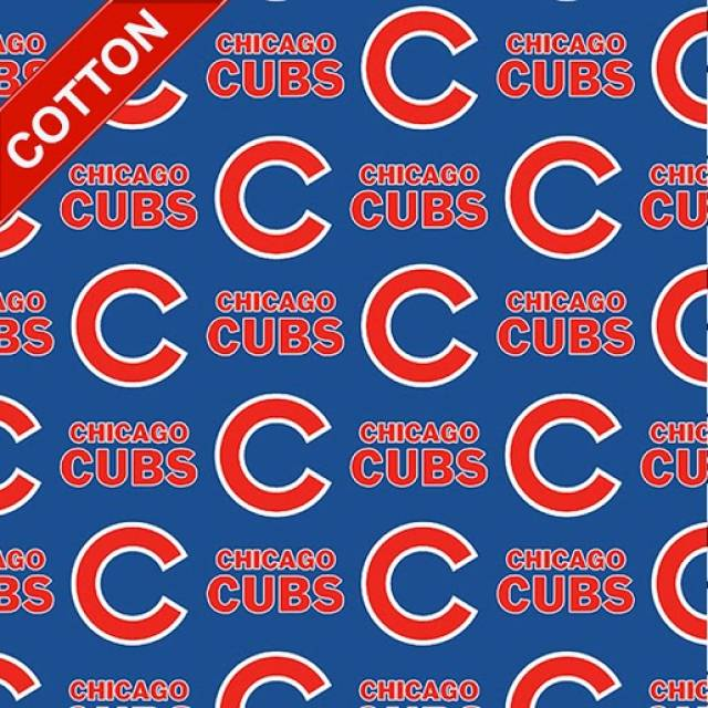 Chicago Cubs Tossed MLB Cotton Fabric