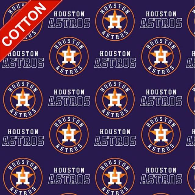 Houston Astros MLB Cotton Fabric