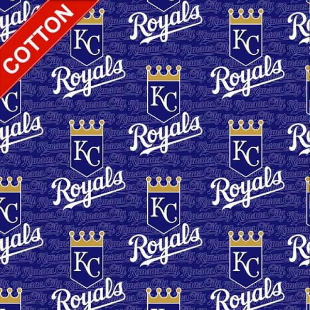 Kansas City Royals Tossed MLB Cotton Fabric