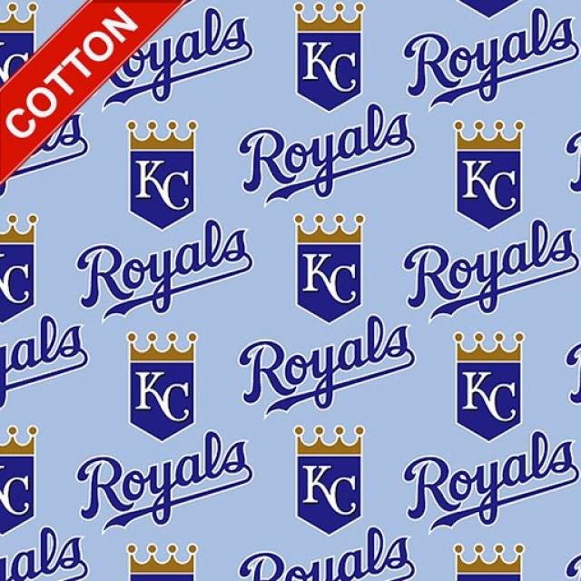 Kansas City Royals Allovers MLB Cotton Fabric
