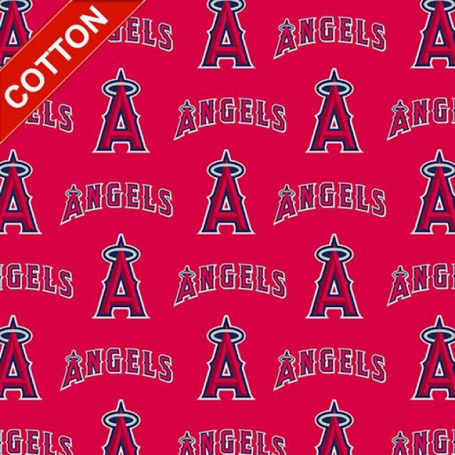 Los Angeles Angels of Anaheim MLB Cotton Fabric