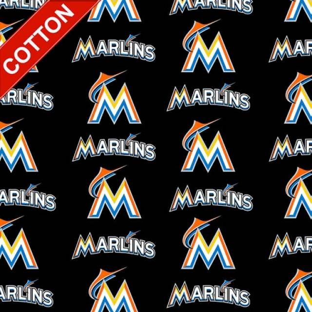 Miami Marlins MLB Cotton Fabric